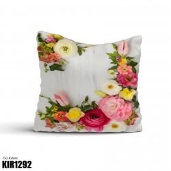 Açık Zemin Çiçek Demetleri Dekoratif Kırlent-KIR1292