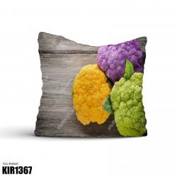 Ahşap Zemin 3 Renk Temalı Dekoratif Kırlent-KIR1367