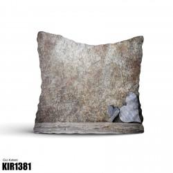 Alaca Koyu Zemin Şerit Temalı Dekoratif Kırlent-KIR1381