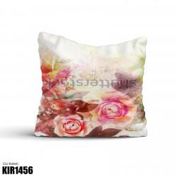 Açık Tonlarda Büyük Çiçek Dekoratif Kırlent-KIR1456