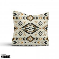 Açık Desen Kahve Tonlu Kilim Desenli Dekoratif Kırlent-KIR1513