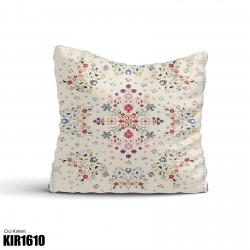 Açık Zemin Çiçek Kompleks Desen  Kırlent-KIR1610