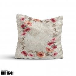 Açık Zemin Çiçek Çerçeve  Kırlent-KIR1641
