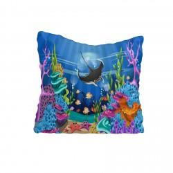 Balık ve Renkli Deniz Altı Erkek Çocuk  Kırlent-KIR240