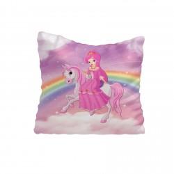 Atlı Gökkuşağı Kız Çocuk Odası  Kırlent-KIR513