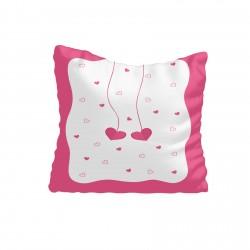Sarkıt Kalpler Koyu Pembe Kız Çocuk Odası Kırlent-KIR545