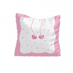 Sarkıt Kalpler Toz Pembe Kız Çocuk Odası Kırlent-KIR546