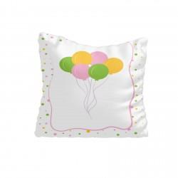Renkli Uçan Balonlar Kız Çocuk Odası Kırlent-KIR558
