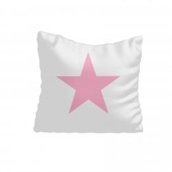 Beyaz Zemin Pembe Yıldız Kız Çocuk Odası Kırlent-KIR562