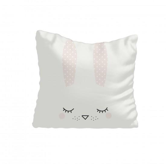 Sevimli Tavşan Silüeti Kız Çocuk  Kırlent-KIR612