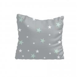 Mint Yeşili ve Beyaz Yıldızlar Kız Çocuk Odası Kırlent-KIR635