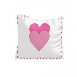 Kalp Çerçeve Çift Kalp Desen Kız Çocuk  Kırlent-KIR676
