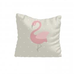Bej Zemin ve Flamingo Kız Çocuk  Kırlent-KIR699