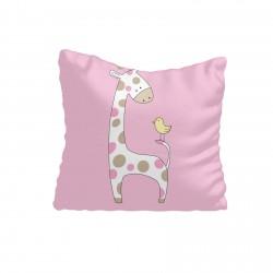 Benekli Zürafa ve Minik Kuş Kız Çocuk  Kırlent-KIR700