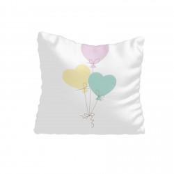 Renkli Kalp Balonlar Kız Çocuk  Kırlent-KIR702