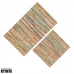 Alacalı Zigzag Kilim Desenli Dekoratif Klozet Takımı-KT1075