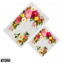 Açık Zemin Çiçek Demetleri Dekoratif Klozet Takımı-KT1292