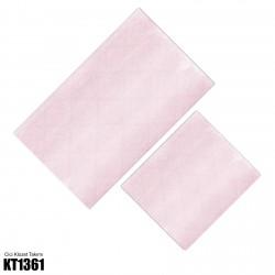 Açık Pembe Soft Beyaz Desen Dekoratif Klozet Takımı-KT1361
