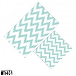 Alacalı Zigzag Desen Dekoratif Klozet Takımı-KT1434