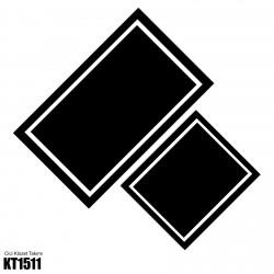 Beyaz Çerçeve Siyah Zemin Dekoratif Klozet Takımı-KT1511