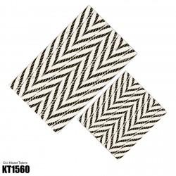 Açık Zemin İlizyon Düz Çizgiler Dekoratif Klozet Takımı-KT1560