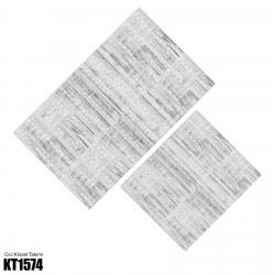 Açık Zemin Boya Fırçası Desenli  Klozet Takımı-KT1574