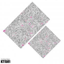 Açık Gri Labirent Desen  Klozet Takımı-KT1581