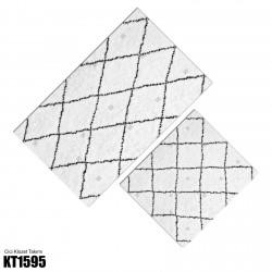 Açık Zemin Baklava Çizgi Desen  Klozet Takımı-KT1595