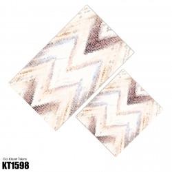 Açık Zemin Alacalı Zigzag Desen  Klozet Takımı-KT1598