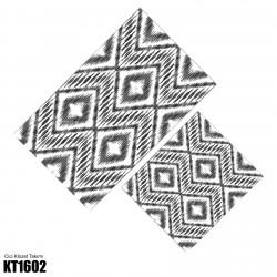 Açık Zemin Baklava Geometrik Desen  Klozet Takımı-KT1602