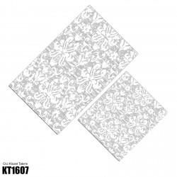 Açık Zemin Klasik Beyaz Desen  Klozet Takımı-KT1607