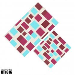 Açık Zemin Dağınık Blok Desen  Klozet Takımı-KT1616