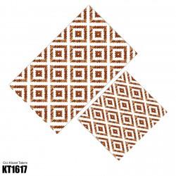 Açık Zemin Dağınık Baklava Desen  Klozet Takımı-KT1617