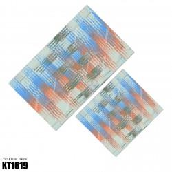 Açık Zemin Renkli Soyut Desen  Klozet Takımı-KT1619