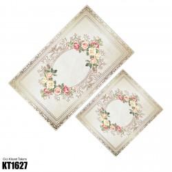 Açık Zemin Ayna Çerçeve Desen  Klozet Takımı-KT1627