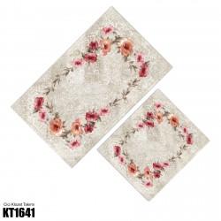 Açık Zemin Çiçek Çerçeve  Klozet Takımı-KT1641