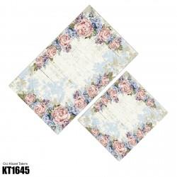 Açık Eskitme Zemin Çiçek Köşe  Klozet Takımı-KT1645
