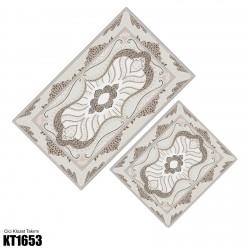 Açık Zemin Klasik Motif Desen  Klozet Takımı-KT1653