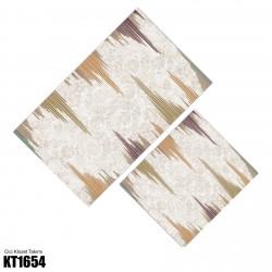 Batik Zemin Kenar Çizgi Desen  Klozet Takımı-KT1654