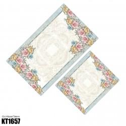 Açık Zemin Çerçeve Çiçek Kenar  Klozet Takımı-KT1657